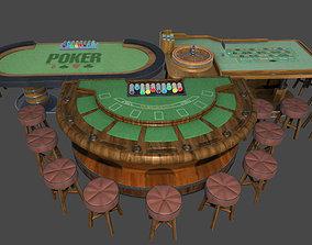 3D model Casino Table Sets