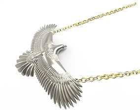 3D printable model eagle medal