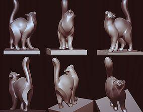 Cat rubbing figure 3D print model