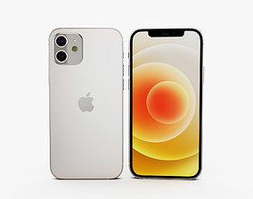iPhone 12 white 3D model
