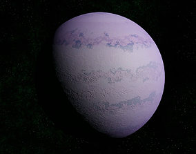 3D asset Light pink gas giant