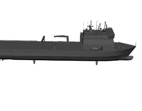 Landing Ship Bay-Class 3D asset