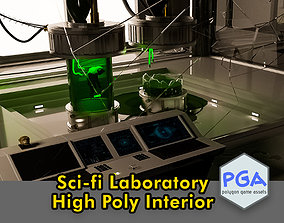 3D model Laboratory Scifi