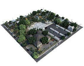 3D model Part Of City