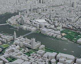 3D model London City Central urban