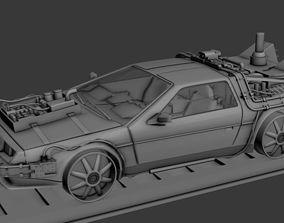 Delorean Back To The Future Part 3 Railroad 3D model