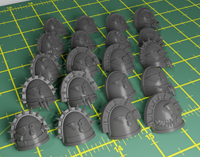 Shoulderpads with Markings for Blood 3D printable model
