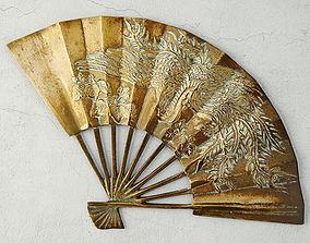 Asian Brass Fan 3D model