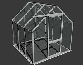Domestic Garden Greenhouse 3D