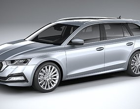 Skoda Octavia Estate 2020 3D