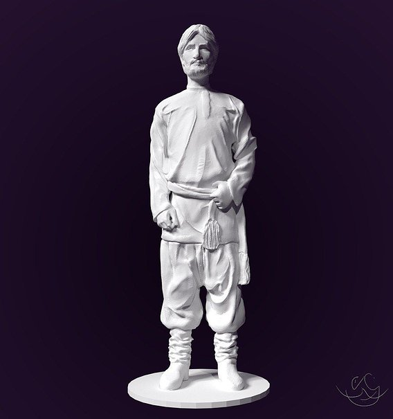 Ensemble - part 3, low poly model for 3d print