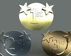 Award Medals 3D model