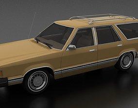 Granada 4dr station wagon 1982 3D asset VR / AR ready