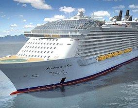 2021 Symphony Of The Seas cruise ship 3D