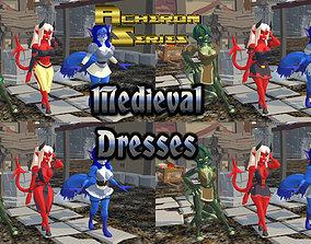 Acheron Medieval Dresses 3D model