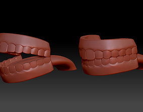 Human Mouth Teeth Cartoon 3d print