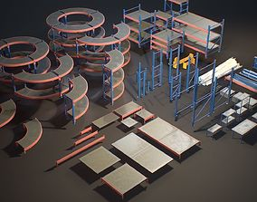 Storage Rack Collection - Modular Game ready 3D asset