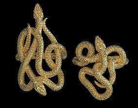 3D print model rings snake
