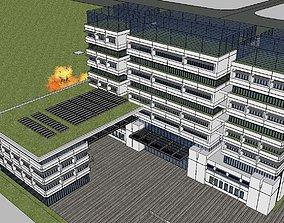 Office-Teaching Building-Canteen 21 3D model