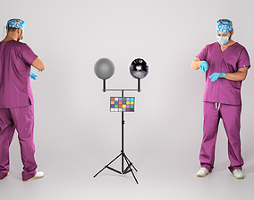 FREE DOWNLOAD Male surgical doctor working 222 3D asset