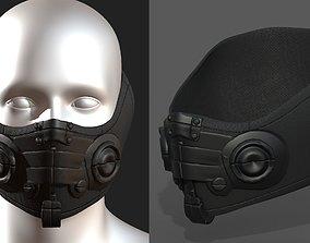 Gas mask respirator scifi futuristic realtime