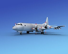 3D Lockheed P-3 Orion Bare Metal
