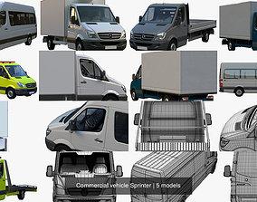 3D model Commercial vehicle Sprinter