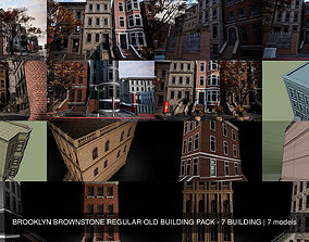 BROOKLYN BROWNSTONE REGULAR OLD BUILDING PACK - 7 3D