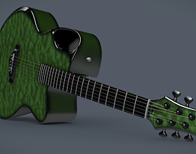 Emerald X30 Carbon acoustic guitar 3D model