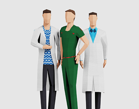 Science Men 3D asset