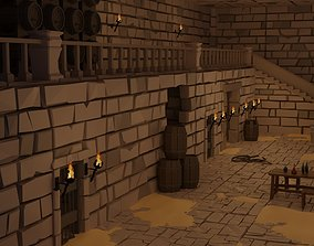 3D asset rigged Dungeon complete set