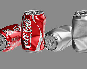 3D model Crushed Soda Can 01