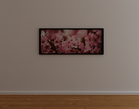 Painting with flowers 3D asset
