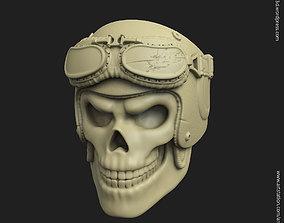 3D printable model rider Biker helmet skull vol3 ring