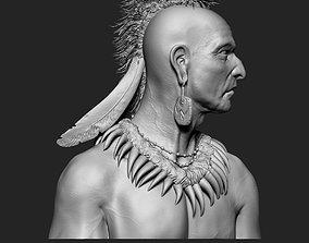 3D printable model Native American Mohawk Warrior