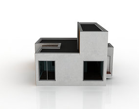 cottage with an operational roof in the Art 3D model 1