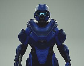 3D model HALO 5 spartan athlon armor