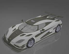 3D asset Koenigsegg One