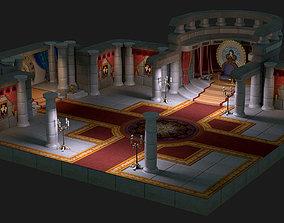 3D model cartoon palace