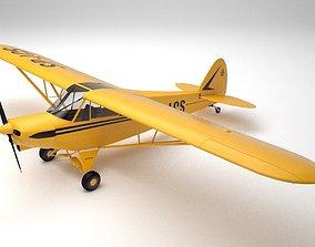 Piper PA-18 Supercub 3D model
