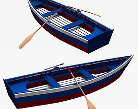 Boat Skiff 3D model ocean