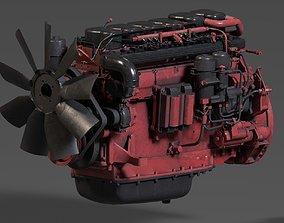 3D Scania DC13 Diesel Engine Vray PBR