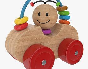 Wooden Car 3D model PBR