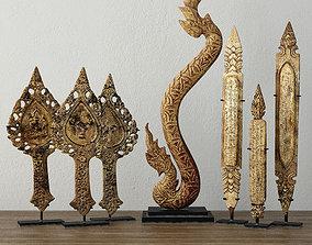 19th C Thai Decoration 3D