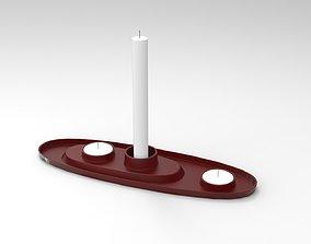 Candle Holder design 3D asset VR / AR ready