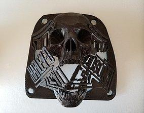 HD Skull Grill For lower fearing Speaker 3D print model 1