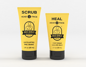 Bee Bald Heal Post -Shave Healing Balm 3D model