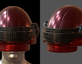 Gas mask helmet 3d model pbr scifi Low-poly realtime