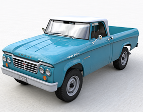 usa DODGE POWER WAGON SINGLE CAB 1964 3D model