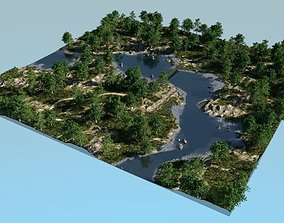 3D model River bays in Blender